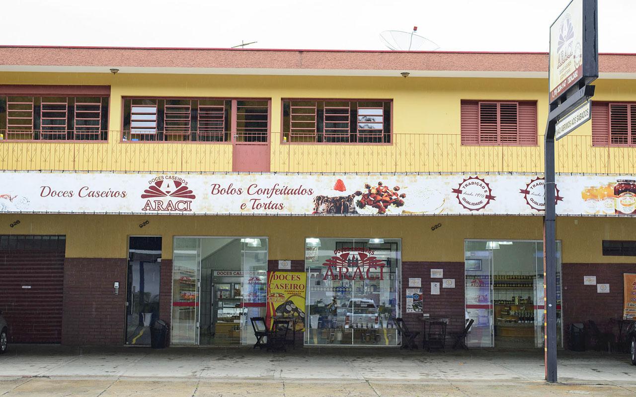 fachada loja Doces Araci - Águas de Lindoia